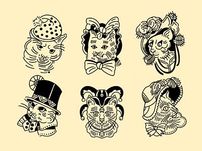 Kitties procreate kitty illustration cat illustration line illustration kitty cats cat art illustration