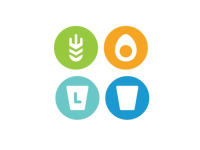 food intolerance icon set