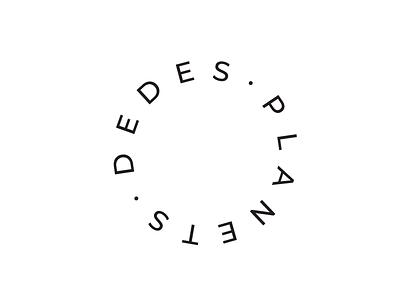 Dede's planets font montserrat typo simple logo