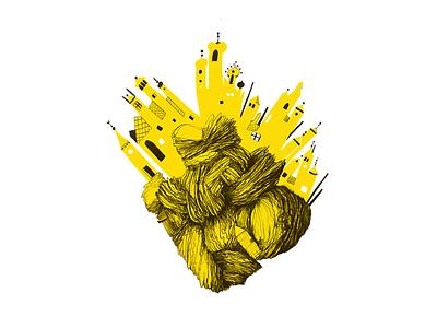 Planet Turkey draw drawing handdraw turkey instagram yellow illustration planet