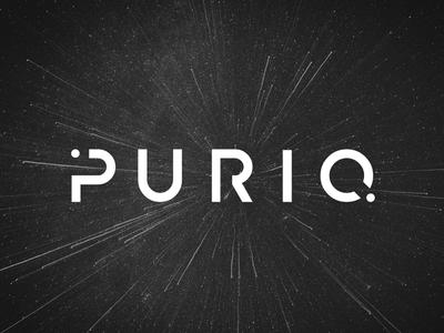 Puriq stars cosmos typo typo logo planet simple logo space