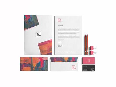 In The Studio branding brand design artist vector simple design logo art project spain art simple design branding design branding brand