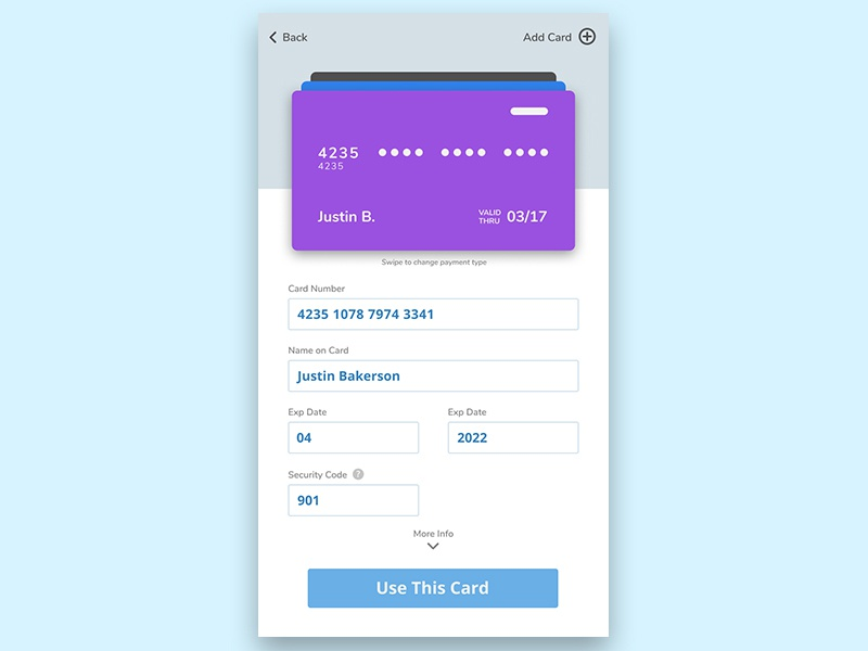 Dailyui 002 Mobile Credit Card Checkout Featured ecommerce card interface checkout creditcard ux ui dailyui