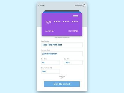 Dailyui 002 Mobile Credit Card Checkout Featured