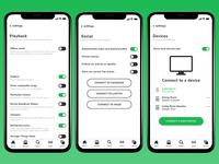 Spotify Settings Screens