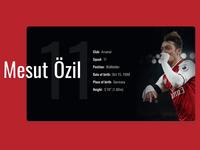 Info Card - Premier League Players