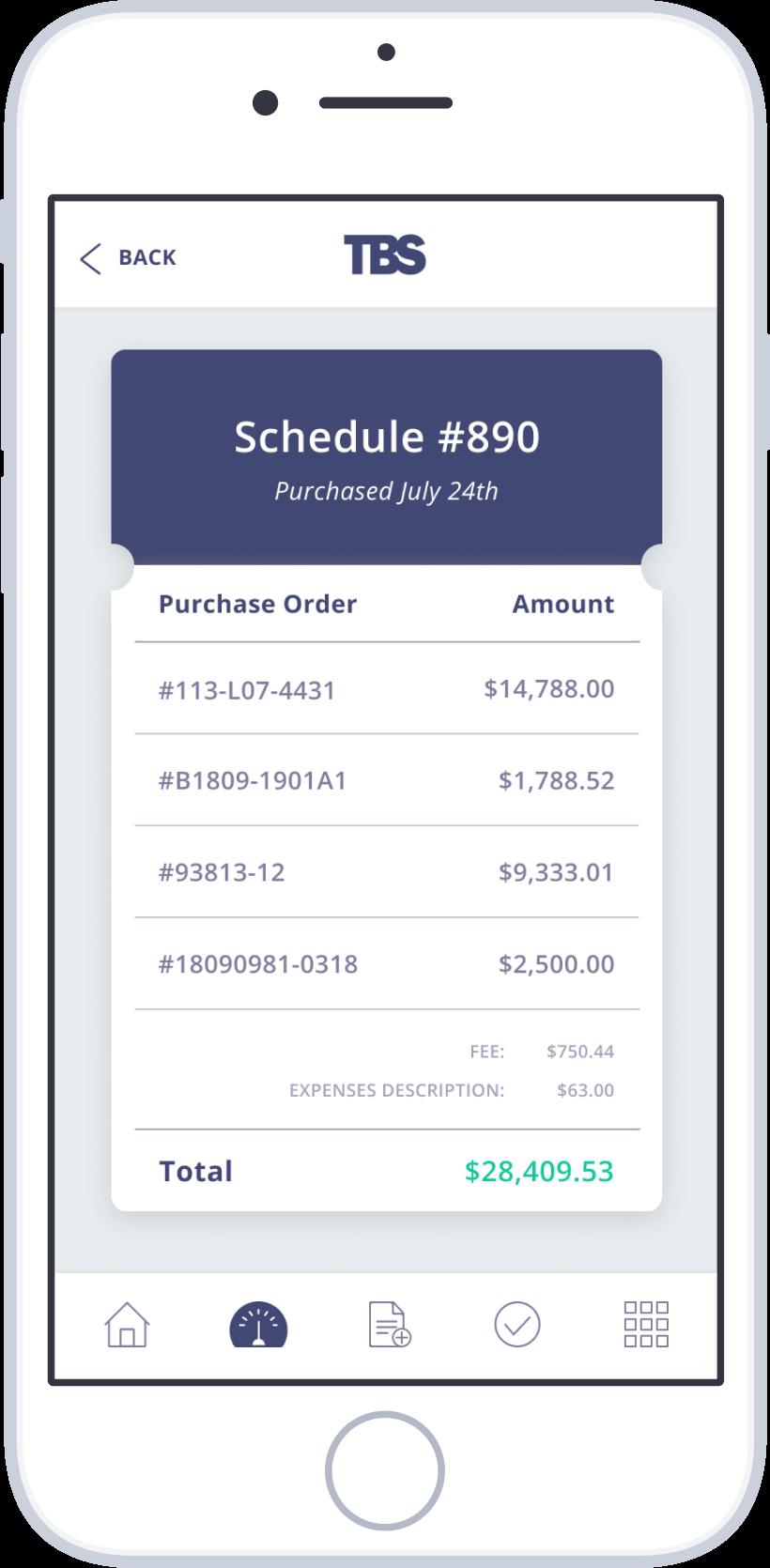 Screenshot receipt device