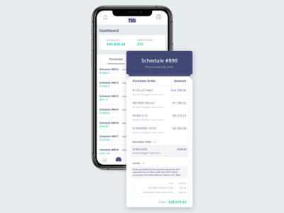 New Schedules Dashboard and Receipts