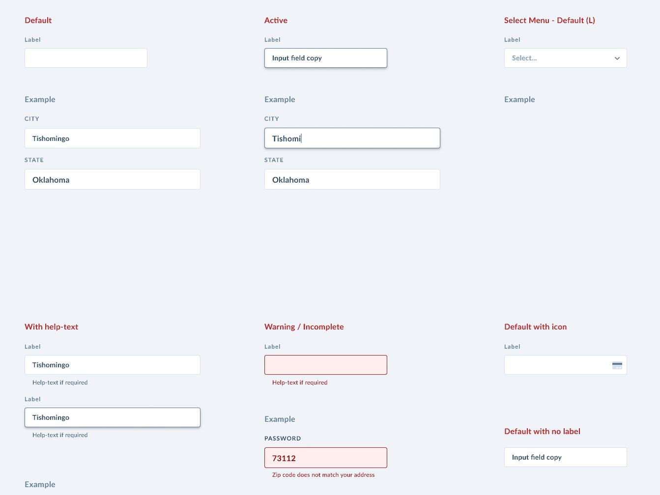 Form Fields search bar search calendar date picker datepicker menu design system pattern library product design product ui form design forms form