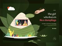 The girl who lives in rice dumplings—Happy Dragon Boat Festival