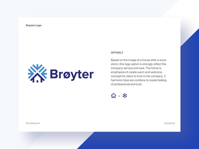 Brøyter_Option 2 - Logo Design icon typography vector branding logo illustration blue design