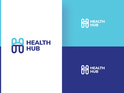Heath Hub_Option 1 - Logo Design icon vector typography branding ui logo illustration dribbble blue design