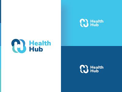 Heath Hub_Option 2 - Logo Design icon typography branding logo illustration ui dribbble blue design
