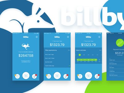 Billby   Payment - Mobile App green blue pay manage mobile payment bill