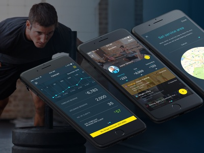 Fitness Track - Mobile App tracking health fitness life in-game workout track app mobile