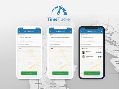 Set Location - Mobile App job service location set blue app mobile