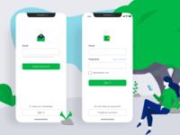 Login Page - Mobile App