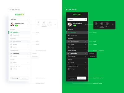 Main Navigation - Website navigation bar navigation menu navigation green dribbble beesightsoft track design website dashboard