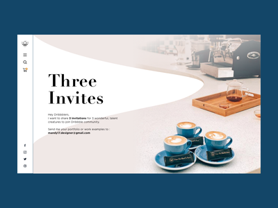 Three Invites   Dribbble ui website dribbble blue