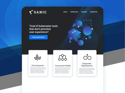 Sanic Web Design UI