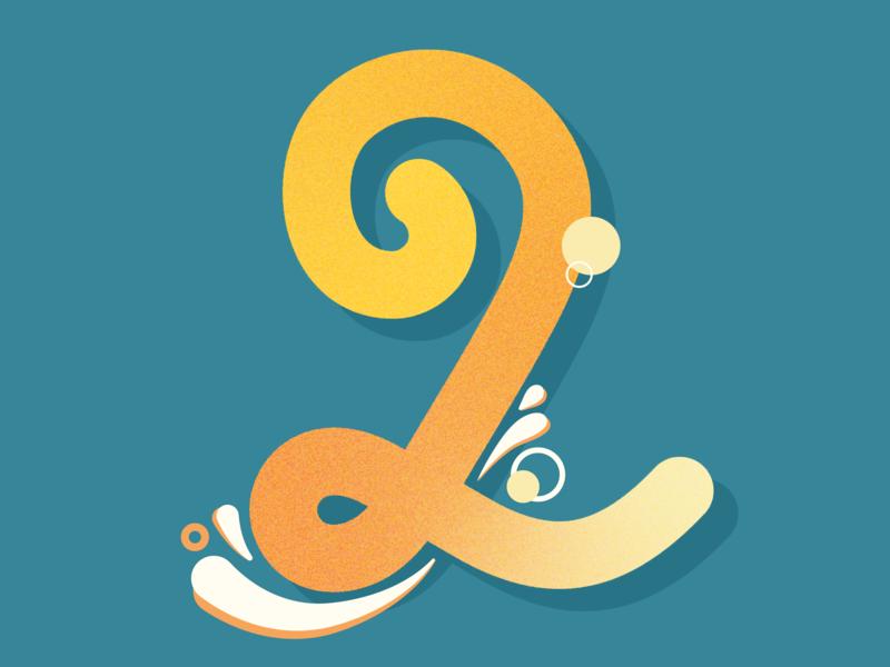 2 splash 32daysoftype-2 36daysoftype 2 36daysoftype02 two 2 vector 36daysoftype typography lettering letter illustration design