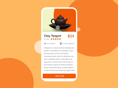 Daily UI: 002 - Checkout teapot interface add to cart buy credit card checkout dailui daily ui 002 daily ui user interface ux ui