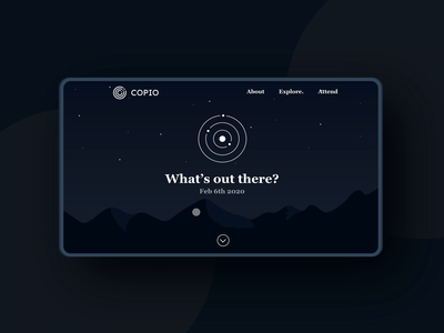 Daily UI: 003 - Landing Page uiux user interfaces user interface daily explore space landing page dailyui challenge dailyui 003 dailyuichallenge dailyui design