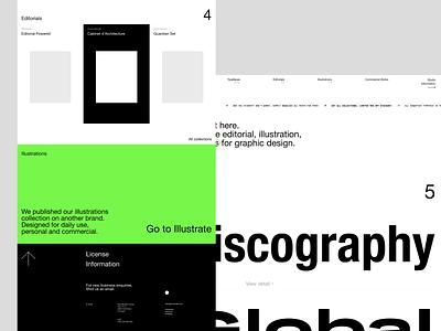 Sonarset™ editorial ecommerce typography user interface agency ui web design minimalist interface uiux