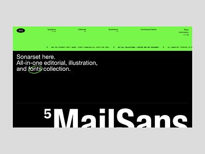 Sonarset™ store editorial ecommerce design typography web design minimalist user interface interface uiux