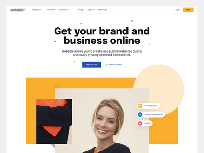 We**** - Landing Page Proposal #1 landing page product design design user interface ui ecommerce web design minimalist interface uiux