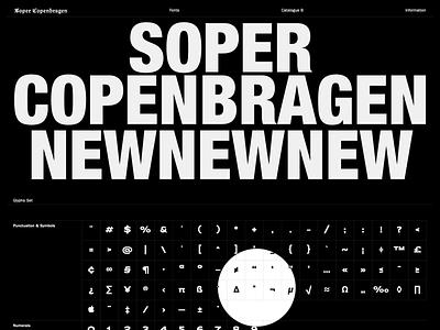 Soper Copenbragen mobile friendly black ecommerce type foundry design store ui web design minimalist interface uiux