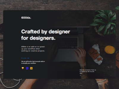 Landing page @goods.co
