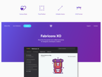 Landing Page Fabricons