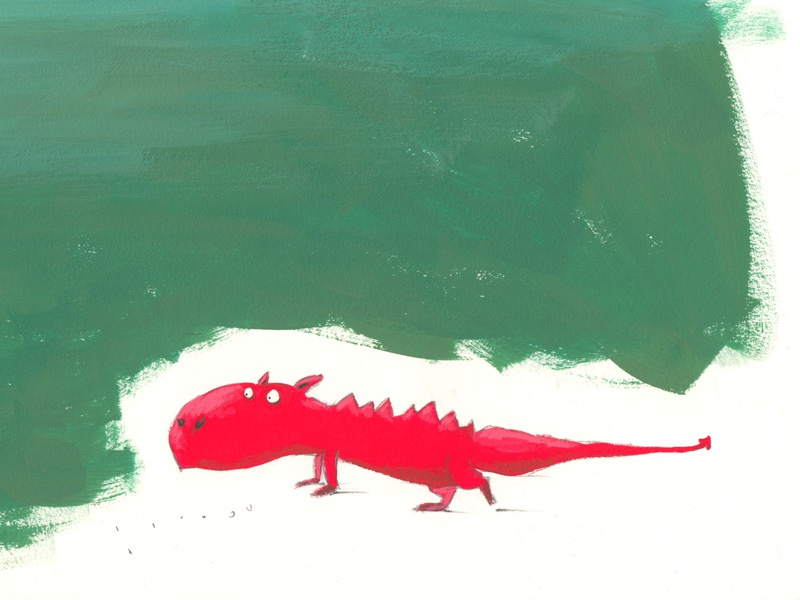 Another dragon illustration dragon sketchbook acrylic pencil