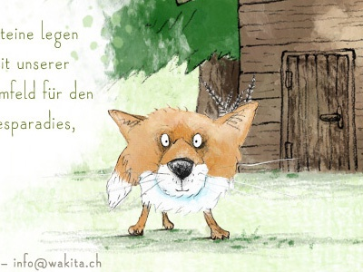 WaKiTa illustration website mixed media children forest fox badger