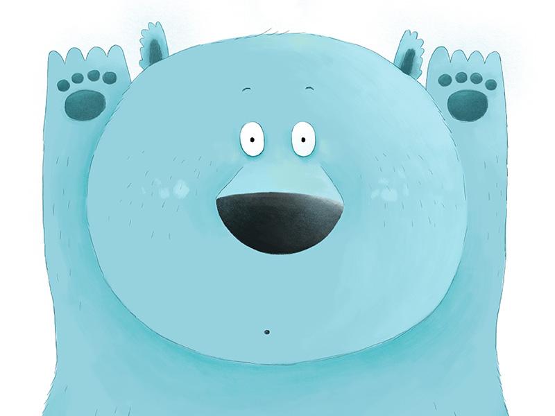 Greeting Cards greeting card bear digital illustration