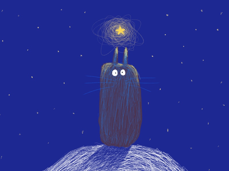 The non dominant hand illustration digital lefty childrens illustration procreate creature star