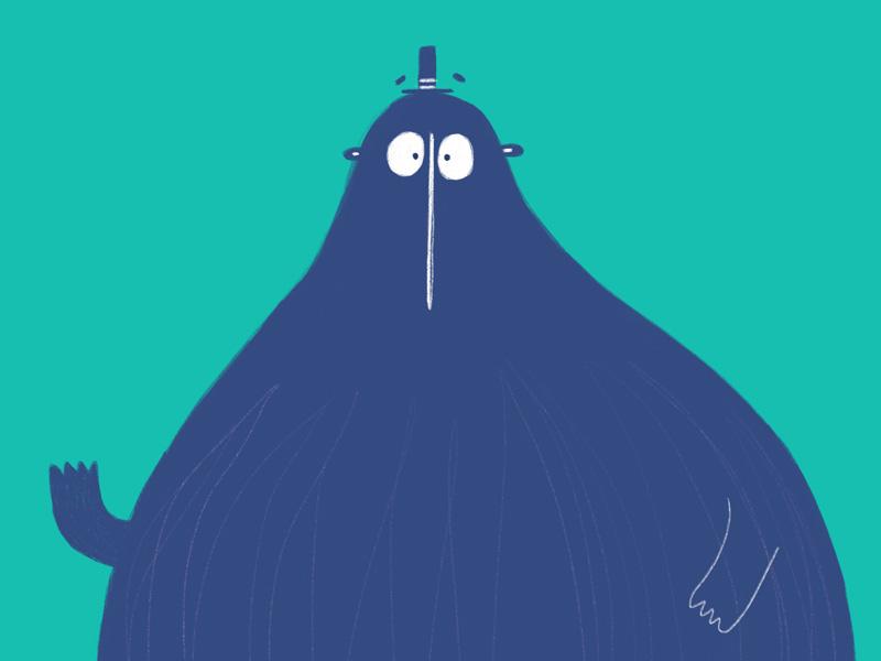Colour blocking procreate duck character bear childrens illustration illustration three tone two tone