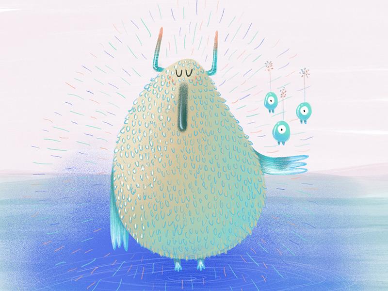 Rain spirit 30days challenge digital procreate childrens illustration fiction illustration spirit rain
