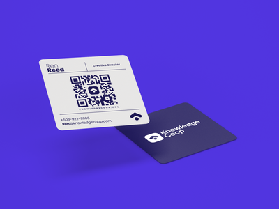 Knowledge Coop | Business Cards branding illustrator graphic design business cards