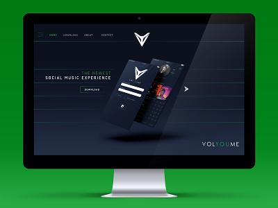 VOLYOUME // Website Mock Up ux  ui ux interface user mock up mock volyoume web design web webdesign