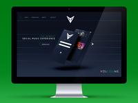 VOLYOUME // Website Mock Up
