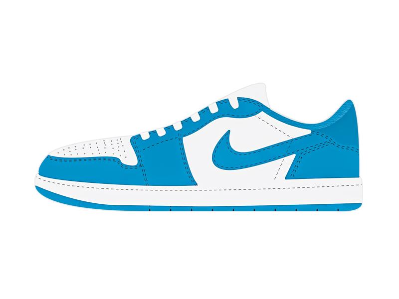 Illustrator Practice Sesh dark powder blue air jordan shoe design shoes jordan vector illustration illustrator design