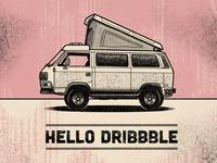 Hello Dribbble! Dream Vanagon