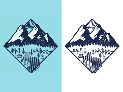 Camping sticker design