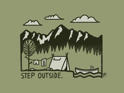 Step outside illustration