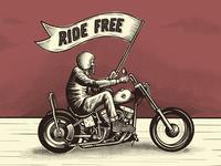 Ride free illustration