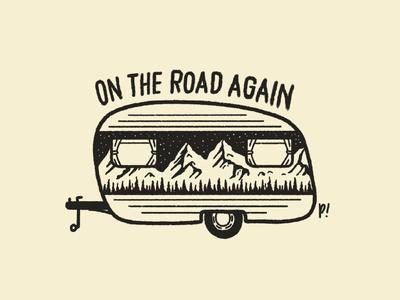 Travel inspired roadtrip illustration