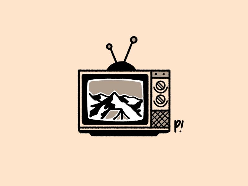 netflix and camp mountain sticker patch vector texture tattoo simpleillustration shape procreate print logo linework illustration handrawn hand drawn grain distorted design branding
