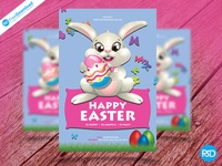 Download Happy Easter Flyer Psd